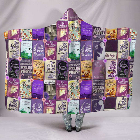 The Color Purple Book Covers Hooded Blanket - Gifts For Reading Addicts