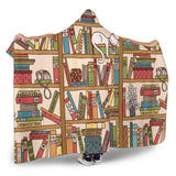 bookshelf hooded blanket