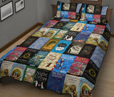 Book Covers Quilt Bed - Gifts For Reading Addicts