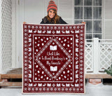 Red Bookish Christmas Quilt
