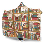 bookshelf hooded blanket - Gifts For Reading Addicts