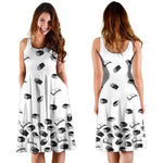 White Bookish Midi-Dress