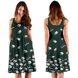 Dark Green Bookish Midi-Dress - Gifts For Reading Addicts