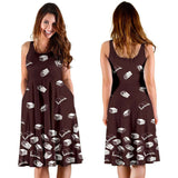 Brown Bookish Midi-Dress - Gifts For Reading Addicts