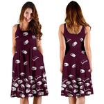Dark Pink Bookish Midi-Dress - Gifts For Reading Addicts