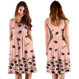 Baby Pink Bookish Midi-Dress - Gifts For Reading Addicts