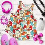 All Over Print Women's Racerback Tank - Gifts For Reading Addicts