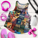 HP Book Cover Pattern Women's Tank - Gifts For Reading Addicts