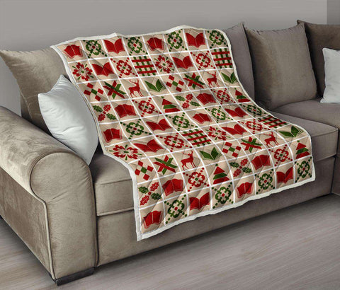 Bookish Christmas Quilt - Gifts For Reading Addicts