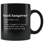 """book hangover""11oz black mug - Gifts For Reading Addicts"