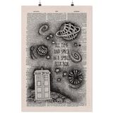 """All time and space""Doctor who vintage dictionary poster - Gifts For Reading Addicts"