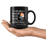 """My heart,My life""11oz black mug - Gifts For Reading Addicts"
