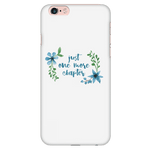 One more floral phone case white - Gifts For Reading Addicts