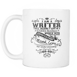 i am a writer that means i live in a crazy fantasy world mug - Gifts For Reading Addicts