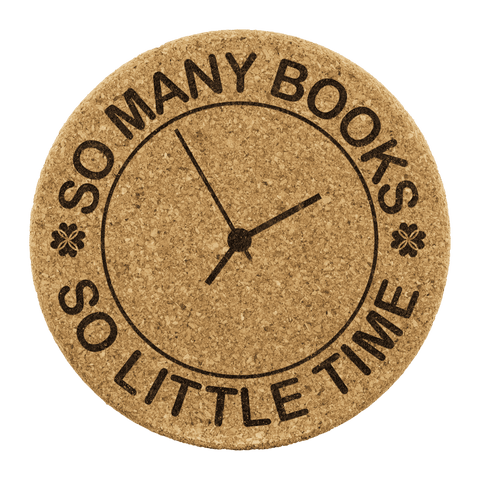 """So Many Books""Round Cork Coaster - Gifts For Reading Addicts"