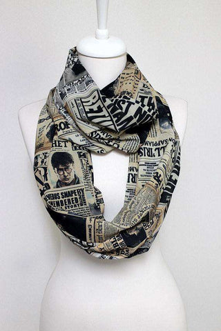 Harry Potter Pattern Handmade Infinity Scarf-For Reading Addicts