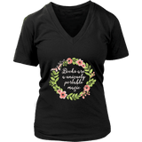 """Portable magic"" V-neck Tshirt - Gifts For Reading Addicts"