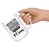 """Punish A Bookworm""15oz White Mug - Gifts For Reading Addicts"