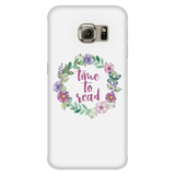 time to read floral phone case white
