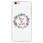 time to read floral phone case white - Gifts For Reading Addicts