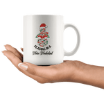 """Reading in a winter wonderland"" 11oz white mug - Gifts For Reading Addicts"