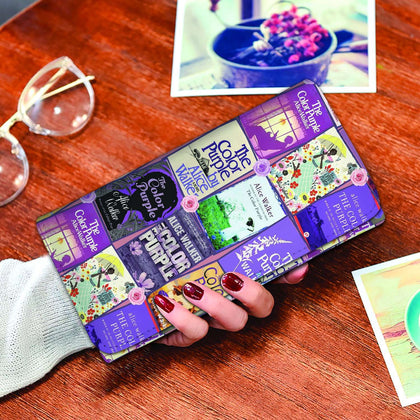 The Color Purple Book Covers Womens Wallet