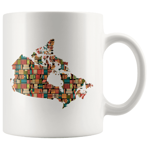 """Canada Bookish Map""11oz White Mug"
