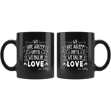 """We fall in love""11oz black mug - Gifts For Reading Addicts"