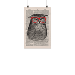 Nerdy owl vintage dictionary poster - Gifts For Reading Addicts