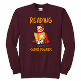 """Reading gives me""YOUTH CREWNECK SWEATSHIRT - Gifts For Reading Addicts"