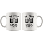 """The library""11oz white mug - Gifts For Reading Addicts"