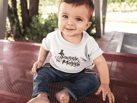 """Snuggle This Muggle""Infant T-Shirt - Gifts For Reading Addicts"