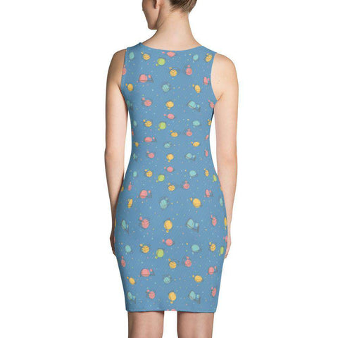 Bookish Pattern Dress Blue-For Reading Addicts