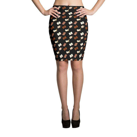 Black Skirts with Pattern design for book lovers FRA Exclusive-For Reading Addicts