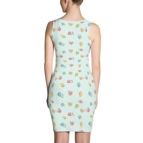 Bookish Pattern Dress Green-For Reading Addicts