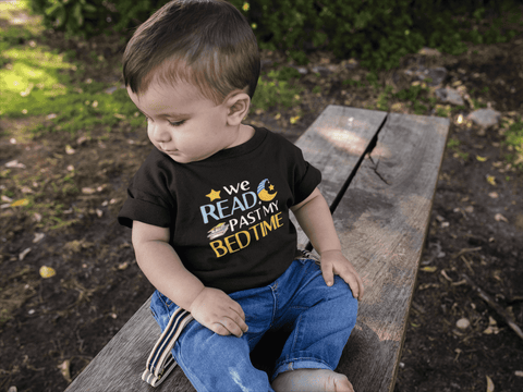 """We Read Past My Bedtime""Toddler T-Shirt"