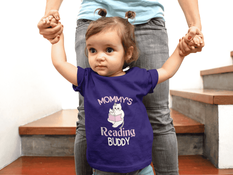 """Mommy's Reading Buddy""Infant T-Shirt - Gifts For Reading Addicts"