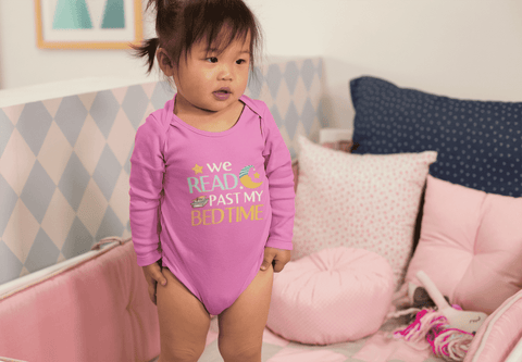 """We Read Past My Bedtime""Long Sleeve Baby Bodysuit"