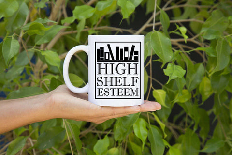 High Shelf Esteem Mugs-For Reading Addicts