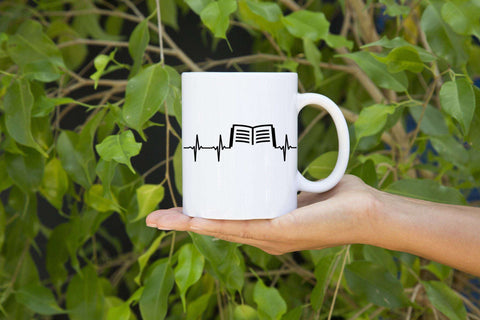 Book In Heart Mugs - Gifts For Reading Addicts