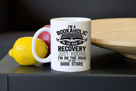 Bookaholic Mugs - Gifts For Reading Addicts