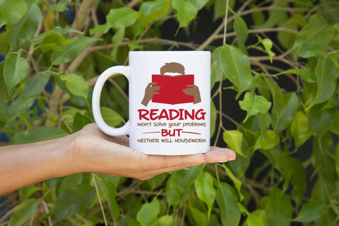 Books & Housework Mugs - Gifts For Reading Addicts