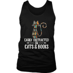 """Cats and books"" Men's Tank Top - Gifts For Reading Addicts"