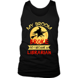 """I Became A Librarian"" Men's Tank Top - Gifts For Reading Addicts"