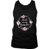 """Happy place"" Men's Tank Top"