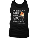 """My heart my life"" Men's Tank Top - Gifts For Reading Addicts"