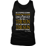 """As if she were the sun"" Men's Tank Top - Gifts For Reading Addicts"