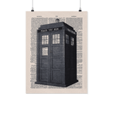 Doctor who tardis vintage dictionary poster