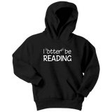 """I otter be reading""YOUTH HOODIE"