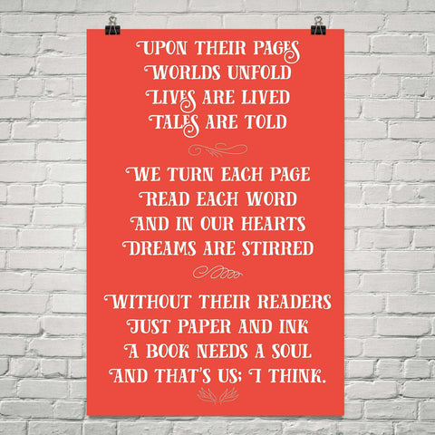 Upon Their Pages Poem - Gifts For Reading Addicts